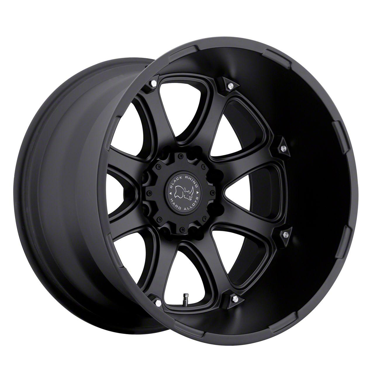 Black Rhino Glamis Matte Black 6-Lug Wheel - 22x14 (99-19 Silverado 1500)