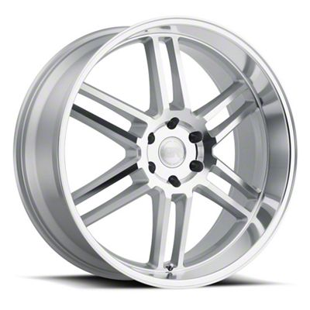 Black Rhino Katavi Silver 6-Lug Wheel - 24x10 (99-19 Silverado 1500)