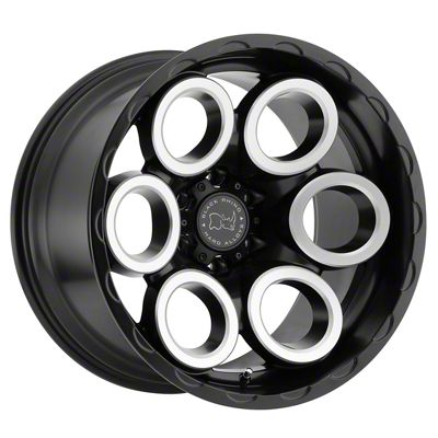Black Rhino Magnus Matte Black Machined 6-Lug Wheel - 17x9.5 (99-18 Silverado 1500)