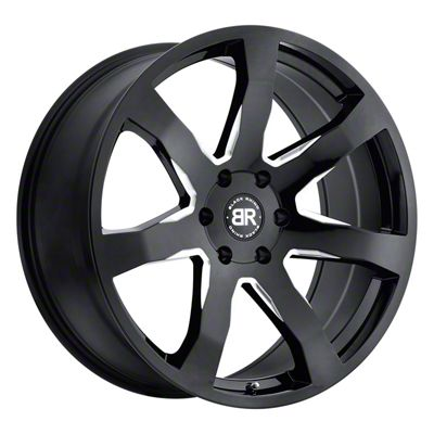 Black Rhino Mozambique Gloss Black Milled 6-Lug Wheel - 24x10 (99-18 Silverado 1500)