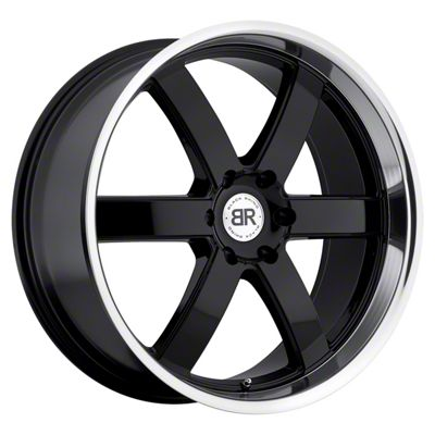 Black Rhino Pondora Gloss Black Machined 6-Lug Wheel - 20x8.5 (99-18 Silverado 1500)