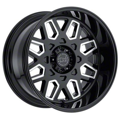 Black Rhino Predator Gloss Black Milled 6-Lug Wheel - 24x14 (99-18 Silverado 1500)
