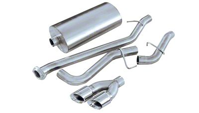 Corsa 3 in. Sport Single Exhaust System w/ Twin Polished Tips - Side Exit (99-06 4.8L Silverado 1500)