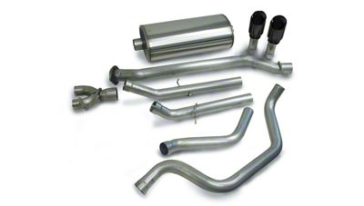 Corsa 3 in. Sport Dual Exhaust System w/ Black Tips - Rear Exit (99-06 4.8L Silverado 1500)