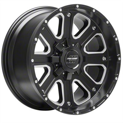 Pro Comp Axis Satin Black 6-Lug Wheel - 17x9 (99-18 Silverado 1500)