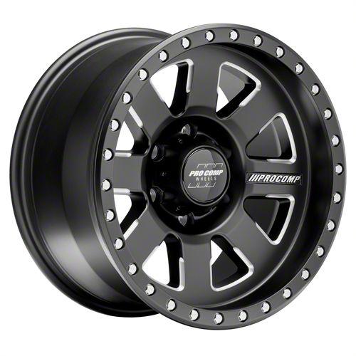 Pro Comp Trilogy Pro Satin Black 6-Lug Wheel - 17x9 (99-18 Silverado 1500)