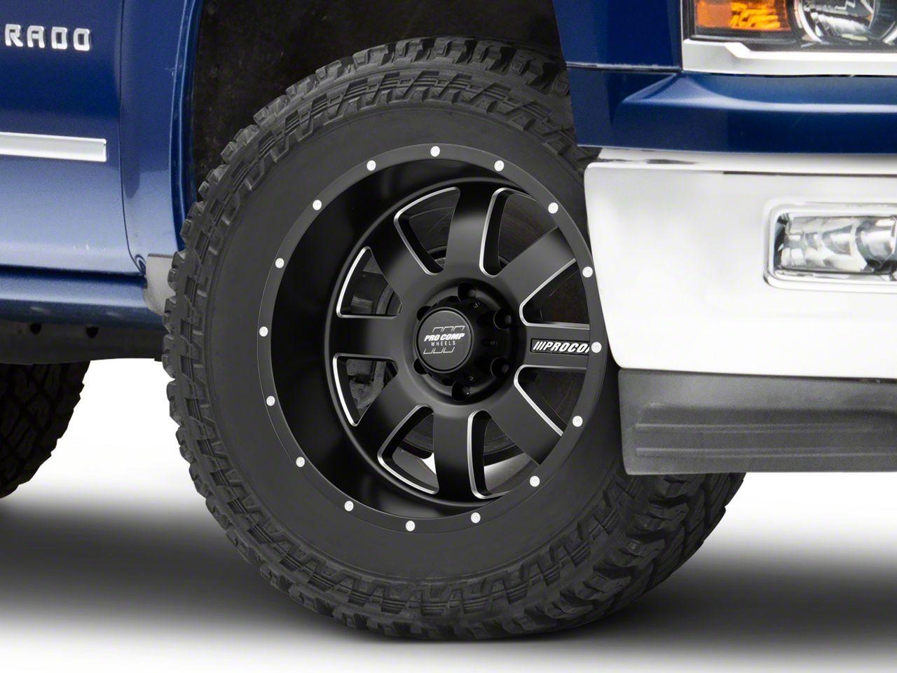 Pro Comp Trilogy Satin Black 6-Lug Wheel - 20x10 (99-18 Silverado 1500)
