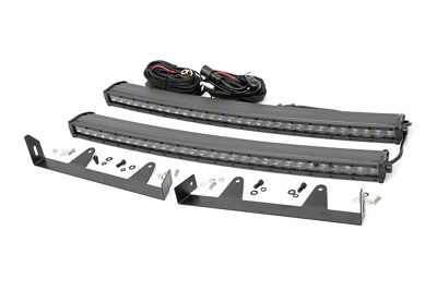 Rough Country 30 in. Black Series LED Light Bar Hidden Grille Kit (03-06 Silverado 1500)