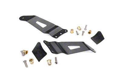 Rough Country 50 in. Curved LED Light Bar Upper Windshield Mounting Brackets (99-06 Silverado 1500)