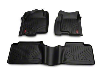 Rough Country Heavy Duty Front & Rear Floor Mats - Black (99-06 Silverado 1500 Extended Cab, Crew Cab)