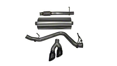 Corsa 3 in. Touring Single Exhaust System w/ Twin Black Tips - Side Exit (14-18 5.3L Silverado 1500)