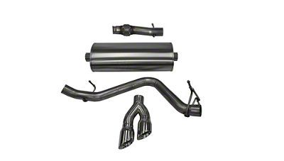 Corsa 3 in. Touring Single Exhaust System w/ Twin Polished Tips - Side Exit (14-18 5.3L Silverado 1500)