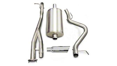dB Performance by Corsa 3 in. Sport Single Exhaust System w/ Polished Tip - Side Exit (03-06 6.0L Silverado 1500 SS)