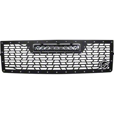Vision X Upper Replacement Grille w/ LED Light Bar - Black (14-15 Silverado 1500)