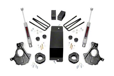 Rough Country 3.5 in. Suspension Knuckle Lift Kit (14-18 4WD Silverado 1500 w/ Stamped Steel or Cast Aluminum Control Arms)