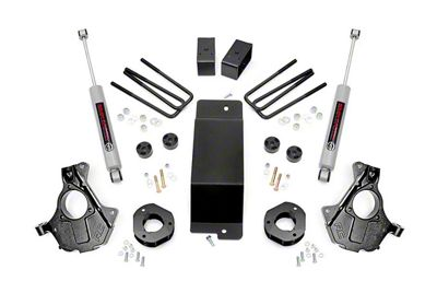 Rough Country 3.5 in. Suspension Knuckle Lift Kit w/ Performance N2.0 Struts (14-18 4WD Silverado 1500 w/ Stamped Steel or Cast Aluminum Control Arms)