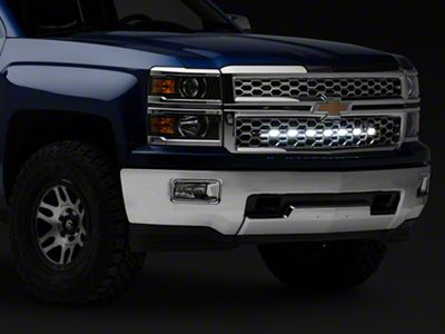 Rough Country 30 in. Chrome Series LED Light Bar Hidden Grille Kit (14-18 Silverado 1500)