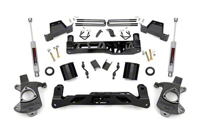 Rough Country 7 in. Suspension Lift Kit w/ N3 Shocks (14-17 2WD Silverado 1500 w/ Stamped Steel or Cast Aluminum Control Arms)