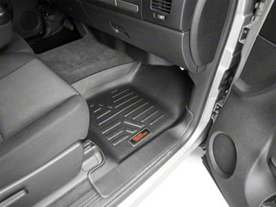 Rough Country Heavy Duty Front & Rear Floor Mats - Black (07-13 Silverado 1500 Extended Cab, Crew Cab)