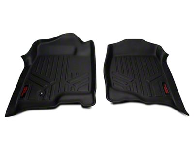 Rough Country Heavy Duty Front Floor Mats - Black (07-13 Silverado 1500)