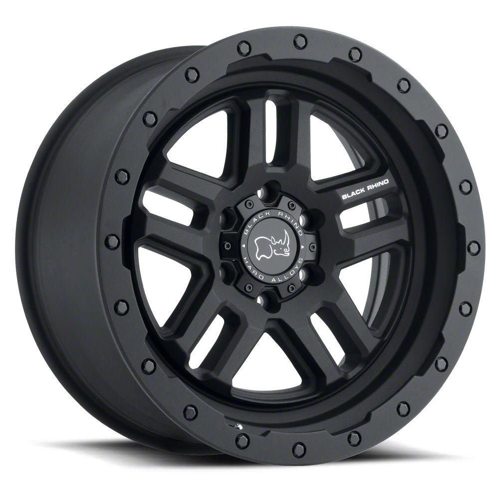 Black Rhino Barstow Textured Matte Black 6-Lug Wheel - 20x9.5 (99-18 Silverado 1500)