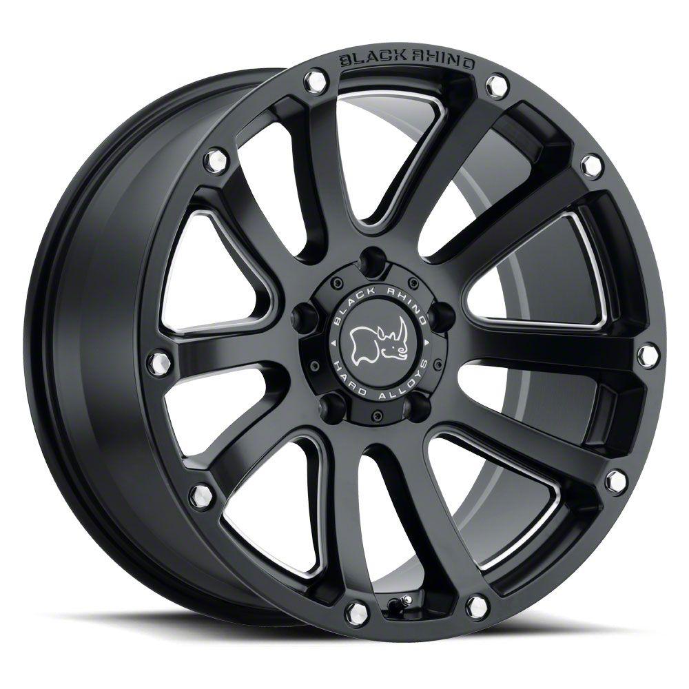 Black Rhino Highland Matte Black 6-Lug Wheel - 17x9.5 (99-19 Silverado 1500)