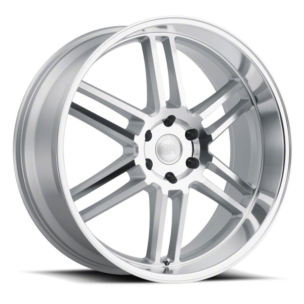 Black Rhino Katavi Silver 6-Lug Wheel - 22x10 (99-19 Silverado 1500)