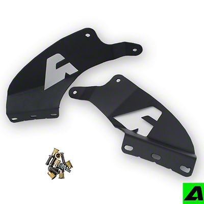 APOC 52 in. Curved LED Light Bar Double Stack Roof Mounting Brackets (07-13 Silverado 1500)