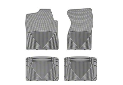 Weathertech All Weather Front & Rear Rubber Floor Mats - Gray (99-06 Silverado 1500 Extended Cab, Crew Cab)