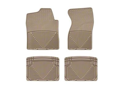 Weathertech All Weather Front & Rear Rubber Floor Mats - Tan (99-06 Silverado 1500 Extended Cab, Crew Cab)