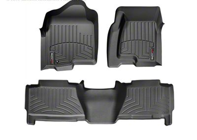 Weathertech DigitalFit Front & Rear Floor Liners - Black (04-06 Silverado 1500 Crew Cab)