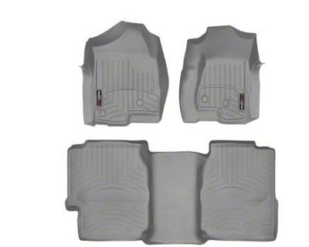 Weathertech DigitalFit Front & Rear Floor Liners - Gray (99-06 Silverado 1500 Extended Cab)