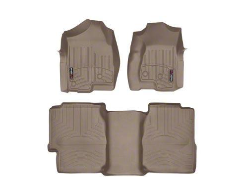 Weathertech DigitalFit Front & Rear Floor Liners - Tan (99-06 Silverado 1500 Extended Cab)