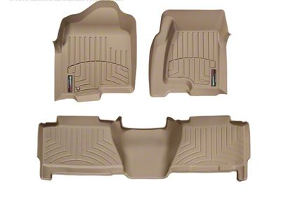 Weathertech DigitalFit Front & Rear Floor Liners - Tan (04-06 Silverado 1500 Crew Cab)