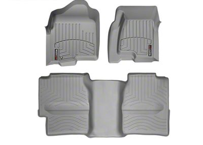 Weathertech DigitalFit Front & Rear Floor Liners w/ Underseat Coverage - Gray (99-06 Silverado 1500 Extended Cab)