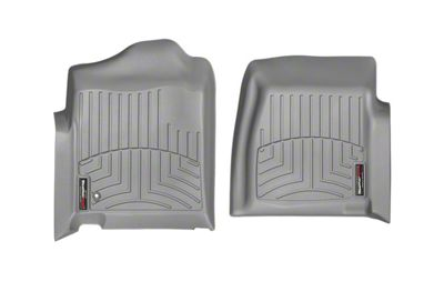 Weathertech DigitalFit Front Floor Liners - Gray (99-06 Silverado 1500 Regular Cab)
