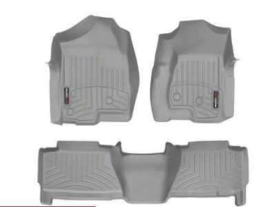 Weathertech DigitalFit Rear Floor Liner - Gray (04-06 Silverado 1500 Crew Cab)