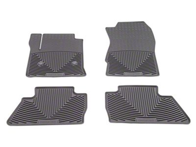 Weathertech All Weather Front & Rear Rubber Floor Mats - Cocoa (14-18 Silverado 1500 Crew Cab)