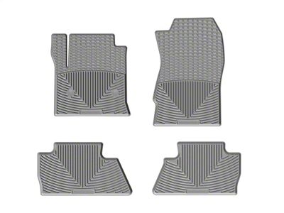 Weathertech All Weather Front & Rear Rubber Floor Mats - Gray (14-18 Silverado 1500 Crew Cab)