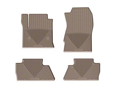 Weathertech All Weather Front & Rear Rubber Floor Mats - Tan (14-18 Silverado 1500 Crew Cab)