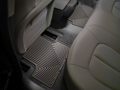 Weathertech All Weather Rear Rubber Floor Mats - Cocoa (14-18 Silverado 1500 Double Cab)