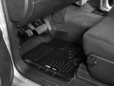 Weathertech DigitalFit Front & Rear Floor Liners - Black (14-18 Silverado 1500 Double Cab w/ Vinyl Floors)