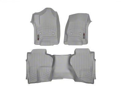 Weathertech DigitalFit Front & Rear Floor Liners - Gray (14-18 Silverado 1500 Double Cab)
