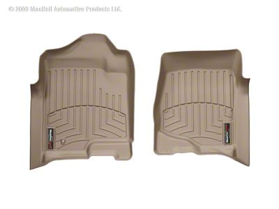 Weathertech DigitalFit Front & Rear Floor Liners - Tan (07-13 Silverado 1500 Crew Cab)
