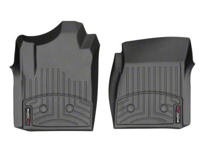 Weathertech DigitalFit Front Floor Liners - Black (14-18 Silverado 1500 Regular Cab w/ Vinyl Floors)