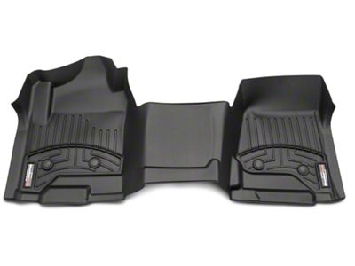 Weathertech DigitalFit Front Floor Liners - Over The Hump - Black (14-18 Silverado 1500 Double Cab, Crew Cab w/ Vinyl Floors)