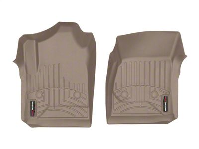 Weathertech DigitalFit Front Floor Liners - Tan (14-18 Silverado 1500 Regular Cab)