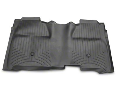 Weathertech DigitalFit Rear Floor Liner - Black (14-18 Silverado 1500 Crew Cab w/ Vinyl Floors)
