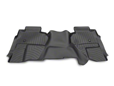 Weathertech DigitalFit Rear Floor Liner - Black (14-18 Silverado 1500 Double Cab w/ Vinyl Floors)