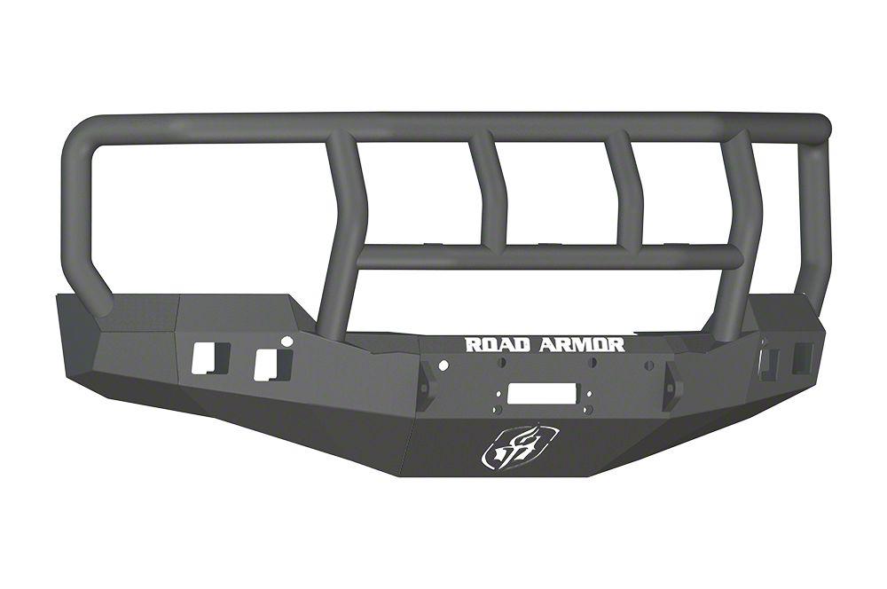 Road Armor Stealth Winch Front Bumper w/ Titan II Guard - Satin Black (16-18 Silverado 1500)